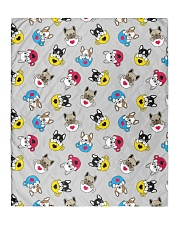 """Cute Frenchie in Cup Quilt 50""""x60"""" - Throw front"""