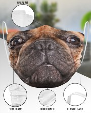 French Bulldog Face Mask 2 Layer Face Mask - Single aos-face-mask-2-layers-lifestyle-front-51