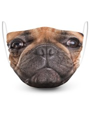 French Bulldog Face Mask 2 Layer Face Mask - Single front