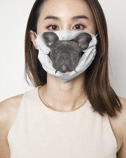 Black Frenchie Face Mask 2 Layer Face Mask - Single aos-face-mask-2-layers-lifestyle-front-01