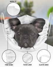 Black Frenchie Face Mask 2 Layer Face Mask - Single aos-face-mask-2-layers-lifestyle-front-51