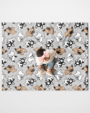 "Cute Frenchie  Quilt 40""x50"" - Baby aos-quilt-40x50-lifestyle-front-08"