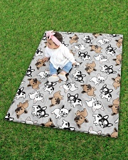 "Cute Frenchie  Quilt 40""x50"" - Baby aos-quilt-40x50-lifestyle-front-09"