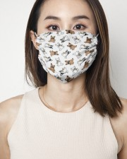Frenchie Eating Pizza Face Mask 2 Layer Face Mask - Single aos-face-mask-2-layers-lifestyle-front-01