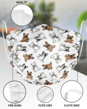 Frenchie Eating Pizza Face Mask 2 Layer Face Mask - Single aos-face-mask-2-layers-lifestyle-front-51