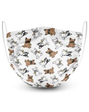 Frenchie Eating Pizza Face Mask 2 Layer Face Mask - Single front