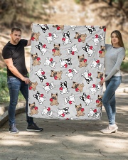 """Cute Frenchie in Cup Quilt 50""""x60"""" - Throw aos-quilt-50x60-lifestyle-front-02"""