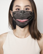 Black Frenchie Smile Face Mask 2 Layer Face Mask - Single aos-face-mask-2-layers-lifestyle-front-01