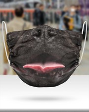 Black Frenchie Smile Face Mask 2 Layer Face Mask - Single aos-face-mask-2-layers-lifestyle-front-48