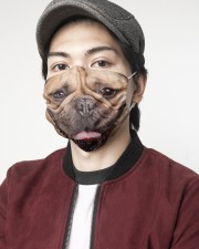Frenchie Smile Face Mask 2 Layer Face Mask - Single aos-face-mask-2-layers-lifestyle-front-08