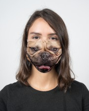 Frenchie Smile Face Mask 2 Layer Face Mask - Single aos-face-mask-2-layers-lifestyle-front-16