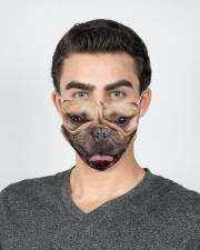 Frenchie Smile Face Mask 2 Layer Face Mask - Single aos-face-mask-2-layers-lifestyle-front-20