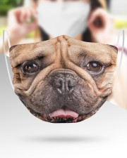 Frenchie Smile Face Mask 2 Layer Face Mask - Single aos-face-mask-2-layers-lifestyle-front-39