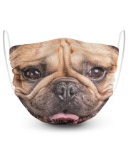 Frenchie Smile Face Mask 2 Layer Face Mask - Single front