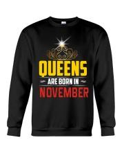 Queens Are Born In NOVEMBER Crewneck Sweatshirt thumbnail