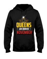Queens Are Born In NOVEMBER Hooded Sweatshirt thumbnail