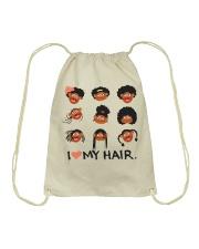 I Love My Hair Drawstring Bag thumbnail