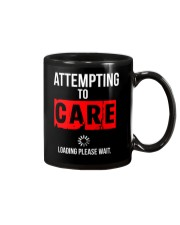 ATTEMPTING TO CARE Loading Please Wait Mug tile