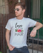 Love Is In The Hair Premium Fit Mens Tee lifestyle-mens-crewneck-front-2