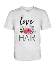 Love Is In The Hair V-Neck T-Shirt thumbnail