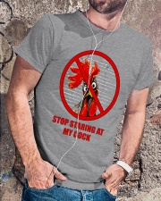 Stop Staring At My Cock  Classic T-Shirt lifestyle-mens-crewneck-front-4