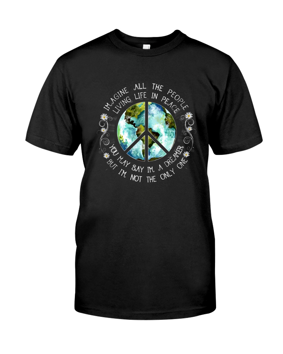 All The People Living In Peace Premium Fit Mens Tee