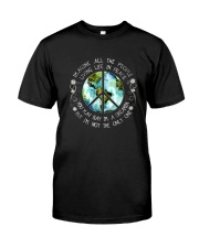 All The People Living In Peace Premium Fit Mens Tee front