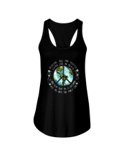 All The People Living In Peace Ladies Flowy Tank thumbnail