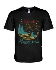 Take Me To The Mountains V-Neck T-Shirt tile