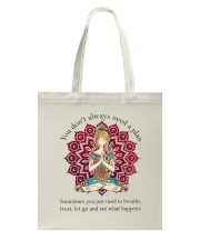 Let Go And See What Happens Tote Bag thumbnail