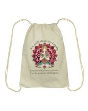 Let Go And See What Happens Drawstring Bag thumbnail