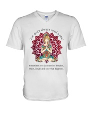 Let Go And See What Happens V-Neck T-Shirt thumbnail