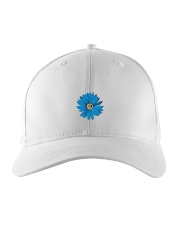 Daisy Flower Embroidered Hat front