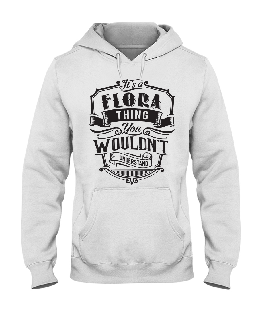 It's A Name Shirts - Flora  Hooded Sweatshirt