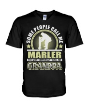 CALL ME MARLER GRANDPA THING SHIRTS V-Neck T-Shirt thumbnail