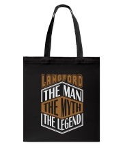 LANGFORD THE MYTH THE LEGEND THING SHIRTS Tote Bag thumbnail