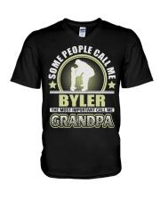 CALL ME BYLER GRANDPA THING SHIRTS V-Neck T-Shirt thumbnail