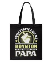 CALL ME BOYNTON PAPA THING SHIRTS Tote Bag thumbnail