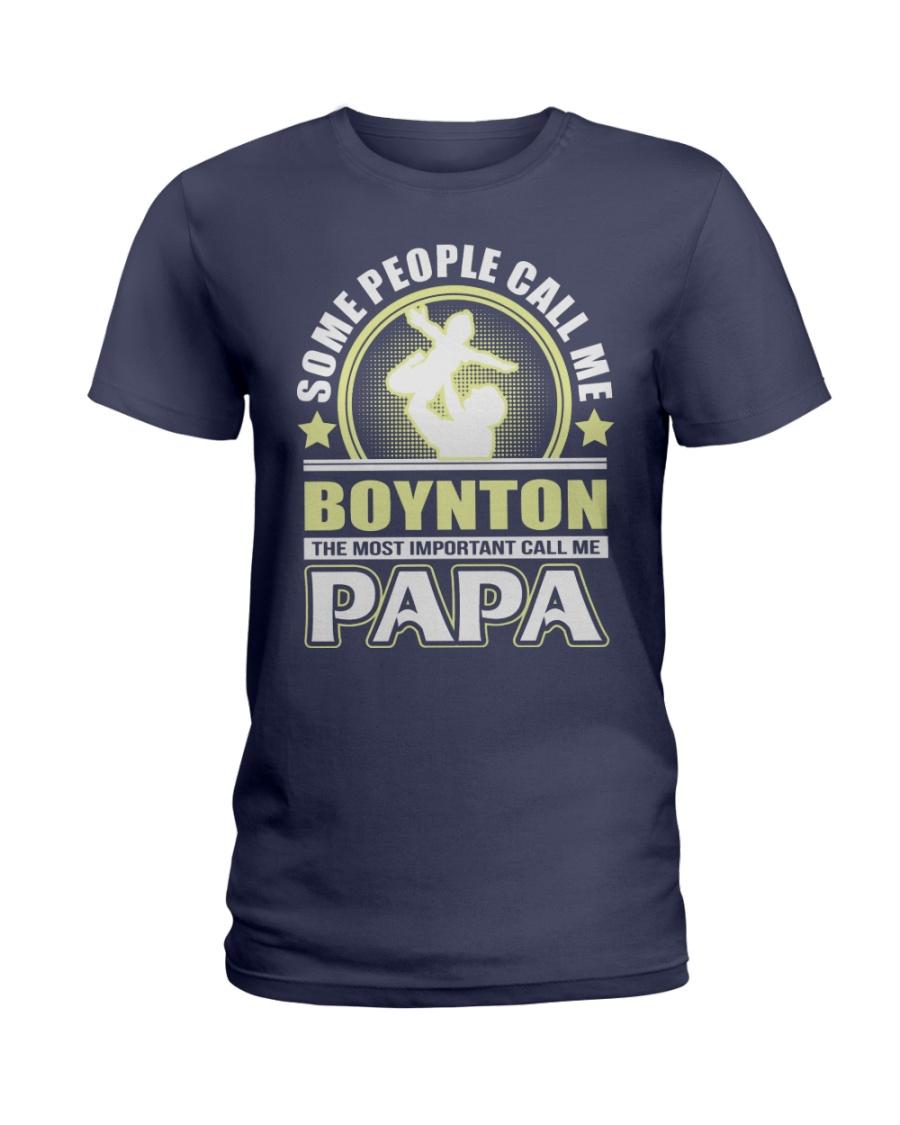 CALL ME BOYNTON PAPA THING SHIRTS Ladies T-Shirt