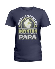 CALL ME BOYNTON PAPA THING SHIRTS Ladies T-Shirt front