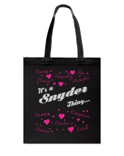 SNYDER FULL HEART THING SHIRTS Tote Bag thumbnail