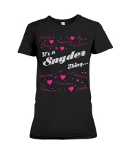 SNYDER FULL HEART THING SHIRTS Premium Fit Ladies Tee tile
