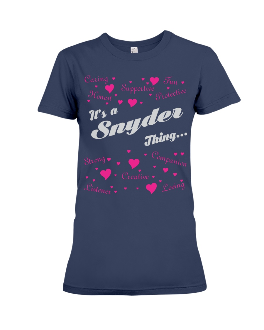SNYDER FULL HEART THING SHIRTS Premium Fit Ladies Tee