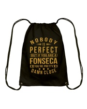 NOBODY PERFECT FONSECA NAME SHIRTS Drawstring Bag thumbnail