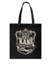 NOBODY PERFECT KANE THING SHIRTS Tote Bag thumbnail
