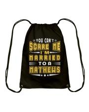 I AM MARRIED MATHEWS NAME SHIRTS Drawstring Bag thumbnail
