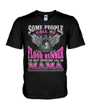 CALL ME FLOOR RUNNER MAMA JOB SHIRTS V-Neck T-Shirt tile