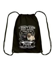 Pug T-shirt Want They To Like Me Drawstring Bag thumbnail