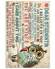 Dear Students Poster 16x24 Poster front