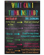 What can I Think Instead 16x24 Poster front